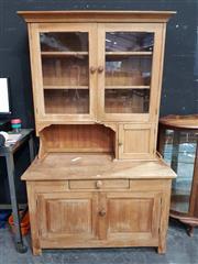 Sale 8934 - Lot 1013 - Pine Meatsafe with Hutch