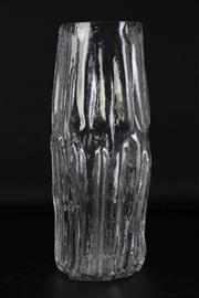 Sale 8980 - Lot 79 - Lindshammar Swedish Glass Vase H: 37cm (Small Fleabites To Rim)