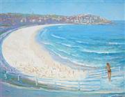 Sale 9047A - Lot 5090 - Paul Delprat (1942 - ) - Bondi Beach 34 x 44 cm (frame: 50 x 60 x 2 cm)
