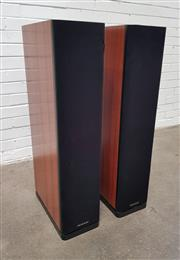 Sale 9092 - Lot 1059 - Pair of Euphonix Floor Speakers by KRIX- serial no- EP-J-0301-03(h:97 x w:22 x w:33cm)