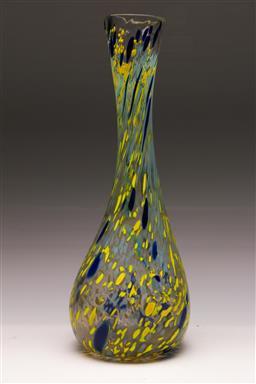 Sale 9131 - Lot 39 - Large art glass bottle shaped vase (H:45cm)