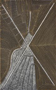 Sale 8321 - Lot 533 - Kathleen Petyarre (1930 - ) - Mountain Devil Lizard Dreaming 160 x 98cm (framed & ready to hang)
