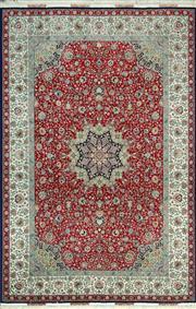 Sale 8338C - Lot 18 - Superfine Persian Tabriz Silk & Wool 310cm x 200cm