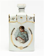 Sale 8575J - Lot 84 - A Tharaud Limoges limited edition ceramic cognac bottle commemorating the bi-centenary of the birth of Napoleon Bonaparte, height 21cm