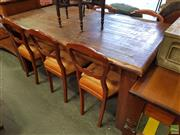 Sale 8601 - Lot 1037 - Timber Dining Table