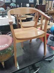 Sale 8648C - Lot 1059 - Set of Four Timber Tub Chairs