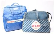Sale 8701 - Lot 22 - KLM And American Airlines Vintage Bags