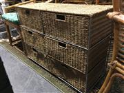 Sale 8795 - Lot 1098 - Pair of Wicker and Metal Chests