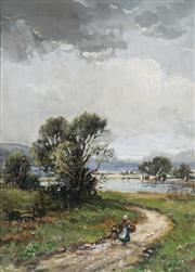 Sale 8938 - Lot 575 - William Ashton (1853 - 1927) - Country Road 34 x 24 cm