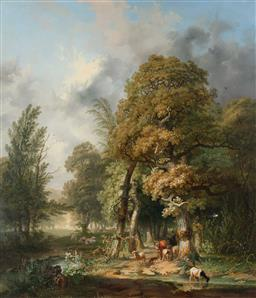 Sale 9190H - Lot 21 - Studio/School of Barend Cornelis KoekKoek (1803-1862) - mid-nineteenth century Dutch landscape 115 x 98cm