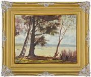 Sale 8339A - Lot 572 - John Allcot (1888 - 1973) - Long Jetty, Tuggerah 34 x 44cm