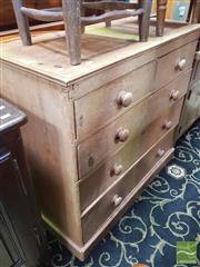 Sale 8428 - Lot 1015 - Baltic Pine 5 Drawer Chest, on plinth base