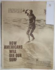 Sale 8431B - Lot 76 - Article, How Americans will see our Surf, 6 pages in Pix magazine October 31, 1964