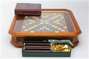 Sale 8677 - Lot 80 - Cased Scrabble Set with Pieces and Book