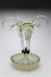 Sale 8719 - Lot 7 - Green Glass Centre Epergne