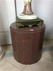 Sale 8730B - Lot 11 - Rouge Marble Plinth H: 45cm D: 40cm