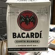 Sale 8801W - Lot 82 - 6x Bacardi White Rum, 1000ml