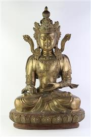 Sale 8810 - Lot 12 - Large Bronze Seated Buddha