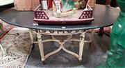Sale 8925 - Lot 1075 - A timber occasional table with ceramic medallion high lights
