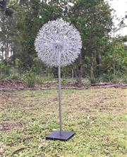 Sale 9015G - Lot 3 - Dandelion Sculpture .Hand made from metal. General Wear   Size 120cm H x 50cm D