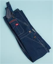 Sale 9071F - Lot 32 - A PAIR OF DICKIES OVERALLS; in dark denim with large front pocket and branding tag, size M