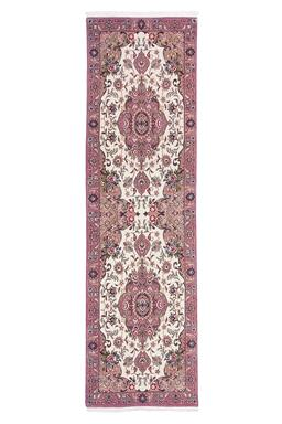 Sale 9090C - Lot 49 - Persian Fine Silk Inlaid Tabriz, 85x300cm, Handspun Wool