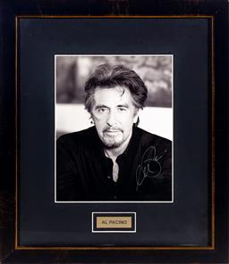 Sale 9130S - Lot 92 - Al Pacino signed photo, Frame size 44x38.5cm