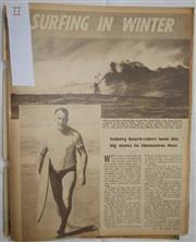 Sale 8431B - Lot 77 - Article, Surfing in Winter, 2 pages in People Magazine, July 3, 1963