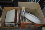 Sale 8509 - Lot 2349 - 2 Boxes of Light Fittings & a Shower Head