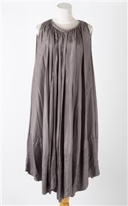 Sale 8541A - Lot 55 - A grey silk sleeveless dress by Scanlan & Theodore, size 16