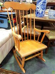 Sale 8648 - Lot 1088 - Timber Rocking Chair
