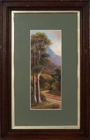 Sale 8759 - Lot 2029 - A Fitzroy - Road to Mt. Kembla near Wollongong, 1906 35 x 14cm