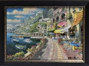 Sale 8778A - Lot 5017 - Sam Park - Dockside 47 x 36.5cm