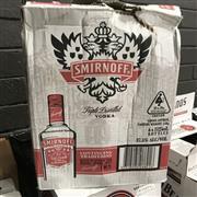 Sale 8801W - Lot 83 - 6x Smirnoff Vodka, 1000ml