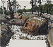 Sale 8881 - Lot 571 - David Rose (1936 - 2006) - Drawing the Bush at Ourimbah 45.5 x 52 cm