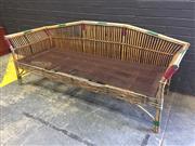 Sale 9006 - Lot 1048 - Vintage Tiger Cane Settee (h:80 x w:203cm)