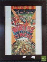 Sale 8552 - Lot 2057 - Wirths Circus Print