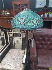 Sale 8648C - Lot 1027 - Leadlight Shade Standard Lamp
