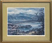 Sale 8699 - Lot 2008 - Kenneth Jack - Mountain and Harbour, 1983, Print 42 x 56.5cm
