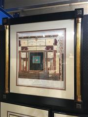 Sale 8726 - Lot 2005 - Italian Hand-Coloured Engraving After Giuseppe Chiantarelli, engraved by Aniello Lamberti 1796, frame size: 87.5 x 81.5cm -