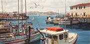 Sale 8838 - Lot 566 - Fill Mottola (1915 - 2008) - Fishermans Wharf, San Francisco 60 x 120cm