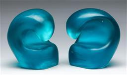 Sale 9156 - Lot 32 - Dinosaur design Sculpture by the Sea awards, incl one directors prize H:17cm