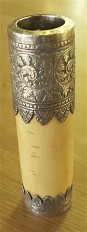 Sale 8319 - Lot 412 - Indian bone and silver taper holder circa 1900s