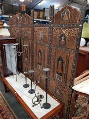 Sale 8676 - Lot 1071 - Persian Four Panel Dressing Screen