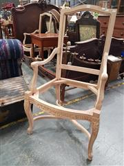 Sale 8700 - Lot 1097 - Pair of Carved Timber Chair Frames