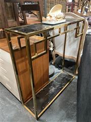 Sale 8896 - Lot 1040 - Metal Glass Top Hall Table