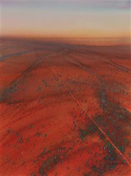 Sale 9141 - Lot 506 - Ben Shearer (1941 - ) Untitled, 1996 (Aerial View Landscape) watercolour and gouache 71 x 53.5 cm (frame: 103 x 84 x 3 cm) signed lo...