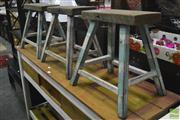 Sale 8347 - Lot 1066 - Set of Three of Rustic Stools