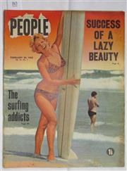 Sale 8431B - Lot 80 - Cover and article, Surf Addicts, 3 pages in People Magazine, February 24, 1965