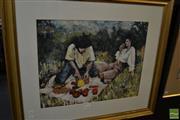 Sale 8464 - Lot 2042 - Jill Dingley (XX) - Picnic, 1995 39 x 50cm